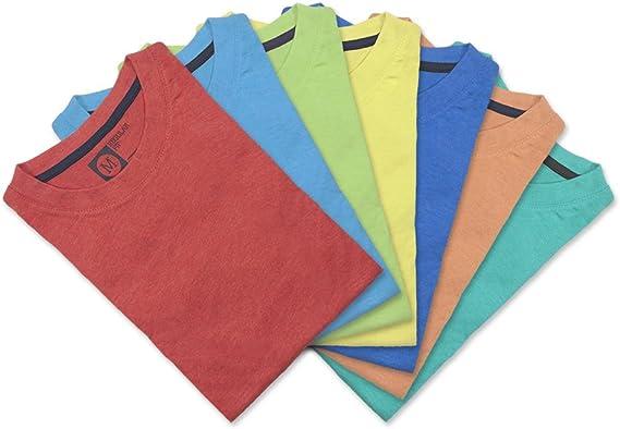 Primark Color Pack de 7 Camisetas para Hombre