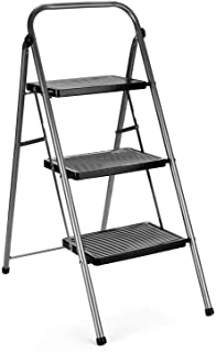 Delxo Step Ladder 3 Step Folding Step Stool with Anti-Slip Wide Pedal,Hold Up to 330lb Sturdy Steel 3 Step Stool ,Lightwei...