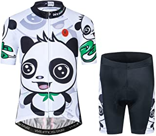 Cycling Jersey Kids,Short Sleeve Cartoon Road Mountain Bike Jersey Set/Top/Short for Girls Boys Breathable