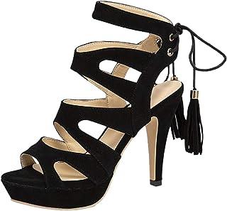 Talons Hauts Sandales Femmes Mode Casual Cristal Peep Toe Chaussures Plates Cuir De Marche Compensees Mariage Soiree éLéGa...