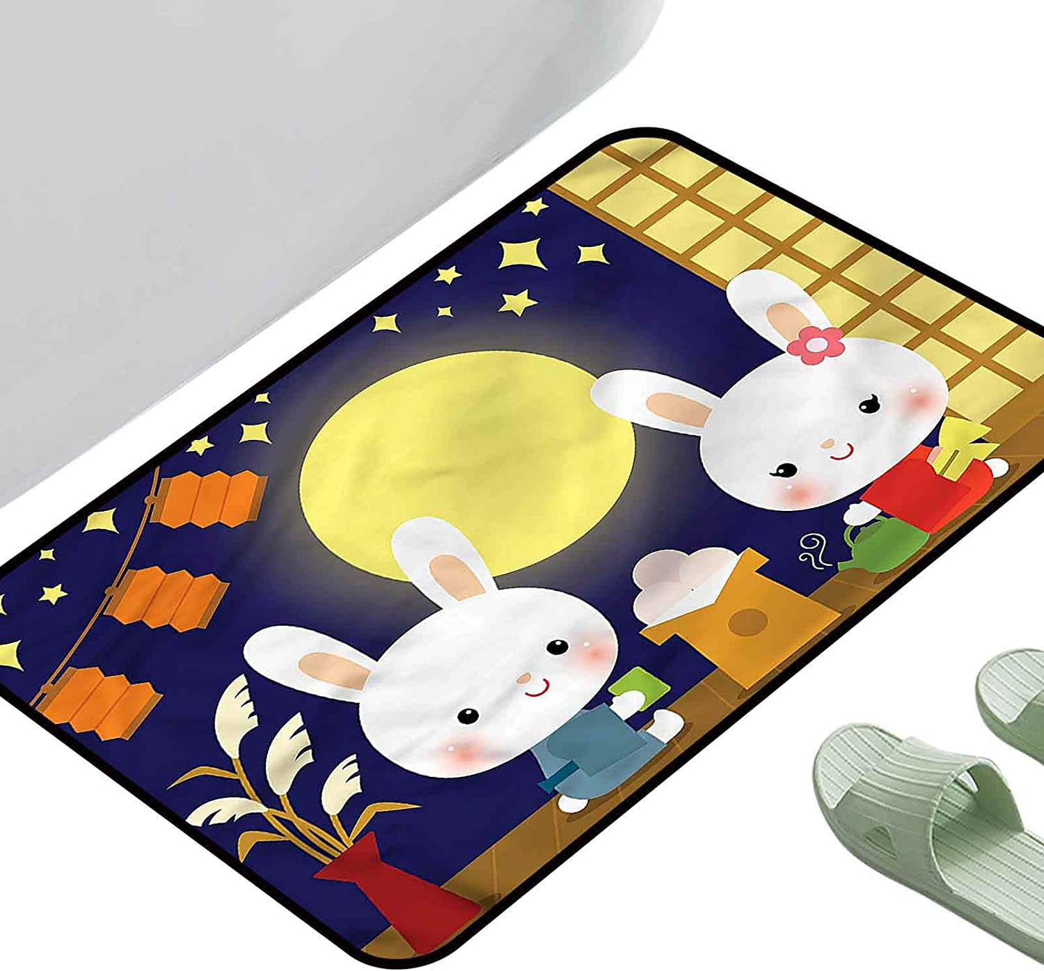 Thin Non-Slip Kitchen Now on sale Selling and selling Bathroom Carpet Tsukimi Fes Anime Colorful