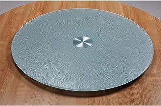 Turntable QFF@ Table À Manger, Diamètre 70-110cm Trempé GlassTurntable Plat De Service, Grande Table Ronde Rotating, De Ch...