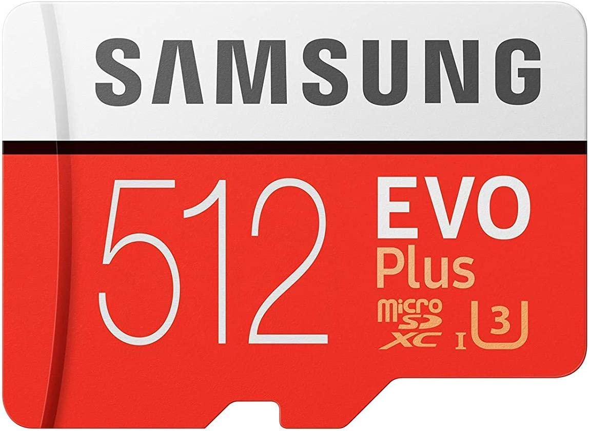 Samsung 512GB Micro SDXC EVO Plus (MB-MC512GA) Bundle Class 10 UHS-1 Works with Samsung Galaxy Note 9, S9, S9+, S8 Cell Phones Plus Everything But Stromboli (TM) TF Card Reader