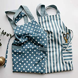 Apron,Striped Dot Women Kitchen Sleeveless Cooking Apron for Chef Coffee Shop Hotel Gardener BBQ Pinafore Overall,Work Apron