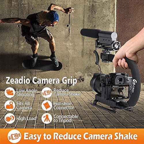 Zeadioカメラ用ハンドルスタビライザーアクセサリーシュー搭載ビデオアクション安定化ハンドヘルドグリップキヤノン、ニコン、ソニー、パナソニック、ペンタックス、オリンパス、デジタル一眼レフ、ビデオカメラに適用
