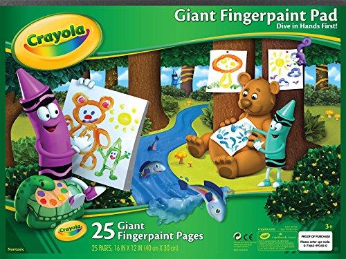 Crayola Giant Fingerpaint Paper, 25 Pages, 16