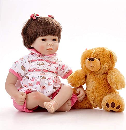 Hongge Reborn Baby Doll,Lebensechte Reborn Puppe lebensecht Neugeborenes Baby Reborn Puppen Weißnachten Geburtstag 43cm