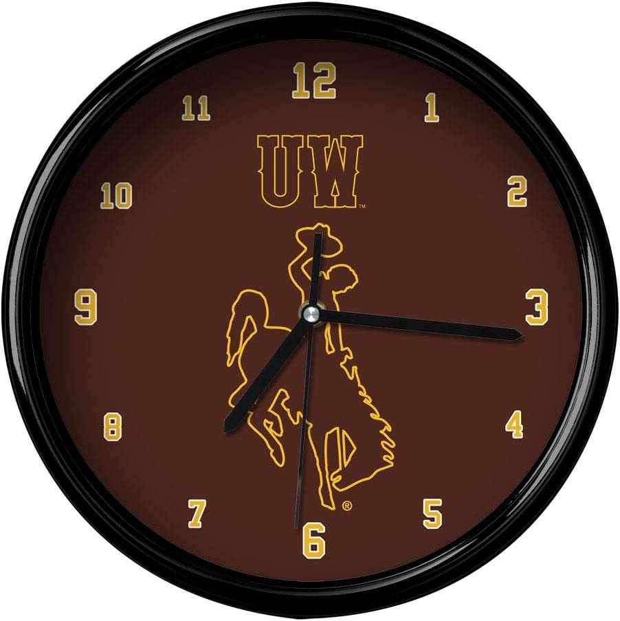 NCAA The University of Wyoming Official Rim Black M Clock Lowest price challenge Basic Max 67% OFF