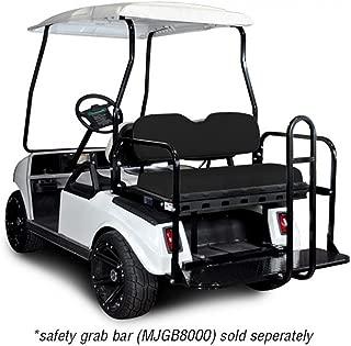 Madjax 01-006 Genesis 150 Rear Flip Seat Kit for 2001.5-Up Club Car DS Golf Carts Black Cushions
