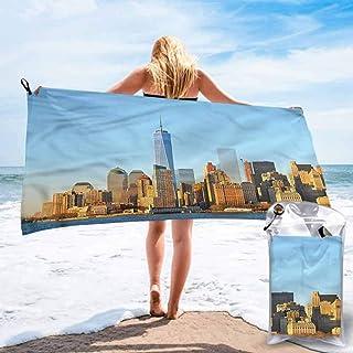 "Ahuimin Microfiber Beach Towel, Landscape,New York City Skyline, 27.5"" x 55"" Quick Dry Lightweight Bath Swim Towels, Shower Beach Blanket Sand Free Towel"