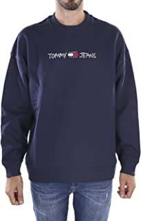 Tommy Jeans - Felpa Uomo con Ricamo Logo