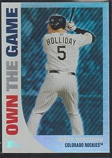 2008 Topps Matt Holliday Rockies Own the Game Insert Baseball Card #OTG6