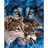 Signature Collection Find 12 Wolves Korean Mink Blanket Queen Size 75'x95'