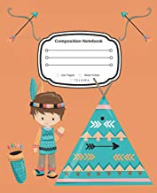 Yes, I am an Indian Boy: Cute Composition Notebook Wide Ruled
