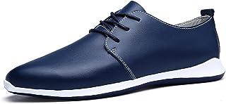 AFFINEST Masculin Lacées en Cuir Style Britannique Casual Mode Plat Chaussures