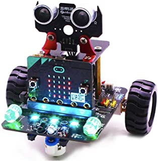 プログラミングロボットカーキット STEM(科学・技術・工学・数学)教育用キット 想像力を高める BBC micro:bit プログラマブルボード Yahboom