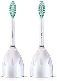Genuine Philips Sonicare E-Series replacement toothbrush head, Pack of 2, Frustration Free Packaging, (HX7022/30, 2)