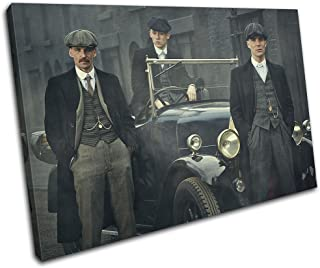Bold Bloc Design - Peaky Blinders Television Show TV 45x30cm SINGLE Canvas Art Print Box Framed Picture Wall Hanging - Hand Made In The UK - Framed And Ready To Hang 13-2495(00B)-SG32-LO-A