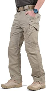 TACVASEN Men's Outdoor Tactical Pants Lightweight Assault Cargo Casual Cotton Pants
