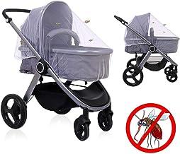 LEADSTAR Universal Insektenschutz Mückennetz Moskitonetz Fliegennetz mit Gummizug für Kinderwagen Buggy Baby Bett Reisebett, Weiß