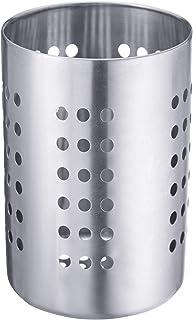Westmark Egouttoir à Couverts/Porte-Ustensiles, Rond, Diamètre: 6,8 cm, Hauteur: 10,3 cm, Acier Inoxydable, Argent, 69002211