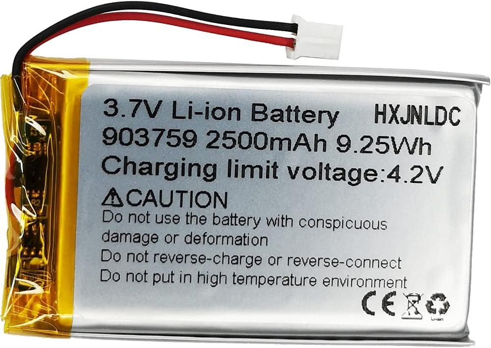 DC 3,7v 2500mah 903759 sustitución de baterías de polímero de Iones de Litio para DIY 18650 Storage LED Lamp Fan Handheld Gift