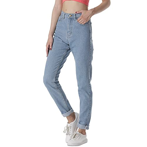 931a623cff422 cunlin High Waist Jeans for Women Denim Pants Mom Jeans High Waisted Jeans