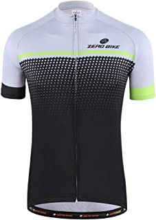 Men's Cycling Jersey Short Sleeve Quick Dry Breathable Full Zip Shirts Sportswear Clothing Bike Tops Quick Dry