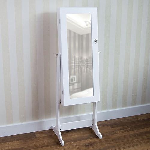 da70b56d69e Home Discount Nishano Jewellery Cabinet Mirror Floor Standing Storage Box  Organiser Bedroom Furniture