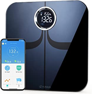 YUNMAI Premium Smart Scale - Body Fat Scale with New Free APP & Body Composition Monitor with Extra Large Display - Works ...