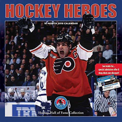 Hockey Heroes - Eishockey 2018 - 16-Monatskalender: Original BrownTrout/Wyman Publishing-Kalender [Mehrsprachig] [Kalender] (Wall-Kalender)