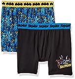 DC Comics Boys' Big Mixed Athletic Boxer Briefs 2 Pack, Batman Multi, 10