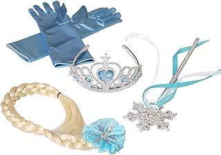Butterfly Craze Frozen Princess Elsa Accessories Set Including Tiara Glove Snowflake Wand Braid