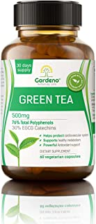 Gardeno Green Tea Extract with EGCG for Healthy Weight Support 500 mg | Supports Healthy Heart, Metabolism & Energy with P...