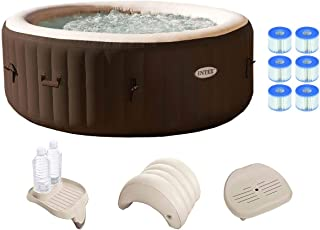 Intex PureSpa 4 Person Inflatable Spa Portable Hot Tub w/Filters & Accessories