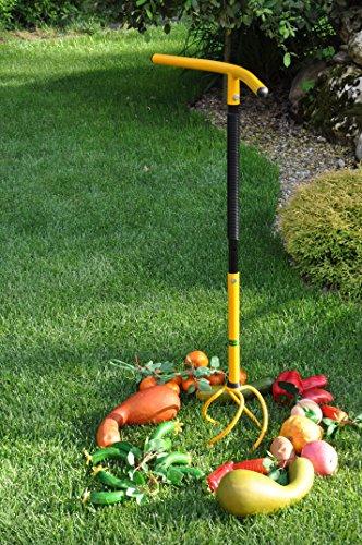 TORNADICA Cultivador y Extractor de Raíces Manual y Extensible, Herramienta de Jardinería Ligera y Fácil de Usar, Altura ajustable 84-105cm, 2kg