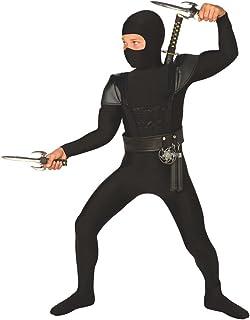 Morph Kids Ninja Costume Childrens Black Kung Fu Karate Outfit – Large (Age 9-11)