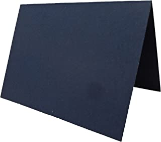 Blank Navy Place Cards Tent Cards - 50 Pack | Size 3.5