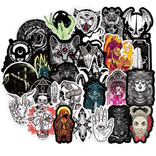 Nuevo estilo gótico Horror Diablo Bruja Graffiti Pegatinas Diy Car Skateboard Viaje Equipaje Guitarra Portátil Cool Calcomanías 50pcs