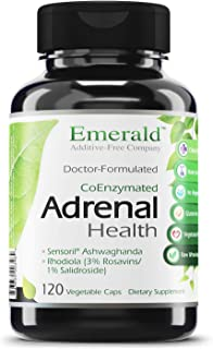 Emerald Labs Adrenal Health with Sensoril Ashwagandha, Vitamin B12, and Rhodiola for Adrenal Support, Stress Relief Suppor...