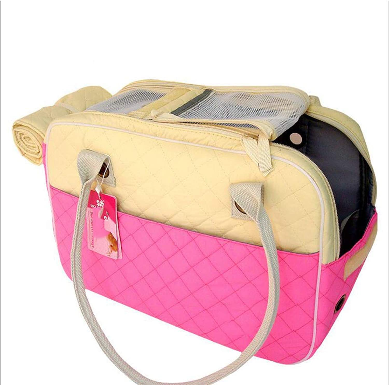 Pet Carrier Seat Cotton Pet Handbag, Breathable Portable Pet Backpack, Cat, Dog, Pet,M Pet Carrier Crate