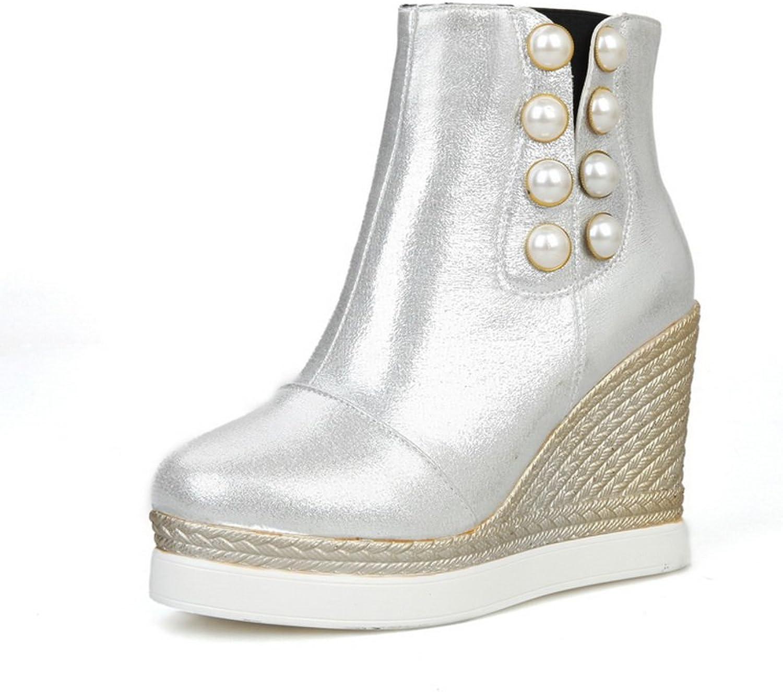 1TO9 Womens High-Heel Flatform Platform Novelty Urethane Rain Boots