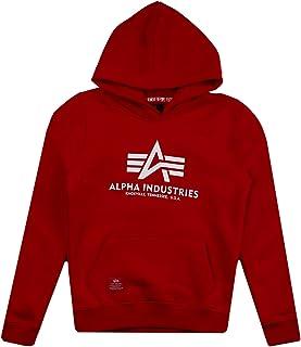 Alpha Industries Speed - Sudadera con capucha para niño, color rojo