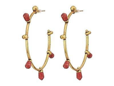 Kendra Scott Freida Hoop Earrings (Vintage Gold Burnt Sienna) Earring