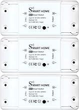 Interruptor wi-fi de controle remoto inteligente básico compatível com o aplicativo Alexa Google Assistant Smart Life Faça...
