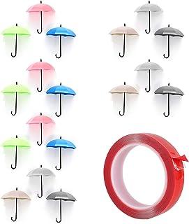 Heiqlay Paraplu haken, sleutelhaken wandhaken paraplu naadloze zelfklevende muur opknoping haken sleutelhangers voor muur ...