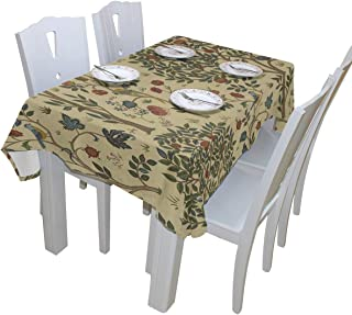WOOR William Morris Prints Tablecloth Polyester for Birthday Party Wedding Holiday Kitchen Dining Room Table Covers Decoration Table Cloth Rectangle/Oblong 60x108 Inch