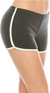 EttelLut Booty Fold Over/Regular Shorts Dance Yoga Sexy Exercise Dolphin Shorts
