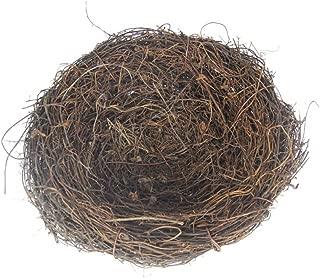 BESTOYARD Country Style Simulation Twig Bird Nest Handmade Easter Rattan Nest Creative Decoration for Home Garden (15cm)