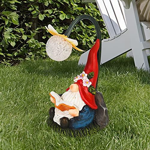 Solar Garden Gnome Resin Gnomes Figurine...